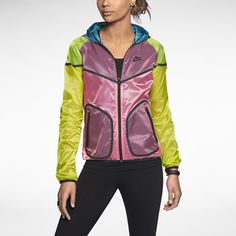 Nike Tech Windrunner Women's Jacket -- shiny, crazy color combo, her inner fish is joyous. Nike Tech, Nike Sportswear, Windrunner Jacket, Gymnastics Outfits, Swag Outfits For Girls, Athletic Gear, Workout Attire, Workout Gear, Nike Store