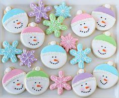 snowmen cookies. #xmas #winter