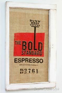 Coffee Sack Art Bean Bagsburlap