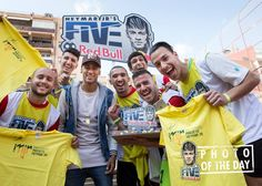 Neymar Jr's Five, Red Bull. Photo of the day 'Suprise'