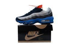 fc82768ad98 Original Nike Air Max 95 Mens Running Shoes Black White Gray Blue Nike  Soccer