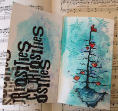Art journal page using Stampotique images  by Sarah Anderson http://sarahanderson1.blogspot.co.uk/