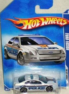 Hot Wheels 2010-109 Ford Fusion Police Car HW City Works #3 of 10 WHITE 1:64 Scale by Mattel. $14.99. White Ford Fusion Police Car. Hot Wheels 2010 #109 of 190. 1:64 Scale Die Cast Collectible Car. HW City Works Series #3 of 10. With its sleek shape and a light bar on top, this Hot Wheels version was made for high speed chases and hot pursuits.