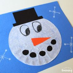Coffee Filter Crafts for Kids: Coffee Filter Snowman Craft - Look! Crafts For Kids To Make, Christmas Crafts For Kids, Xmas Crafts, Fun Crafts, Snowman Crafts For Preschoolers, Winter Toddler Crafts, Winter Crafts For Prek, Snowman Craft Preschool, Christmas Activities For Children