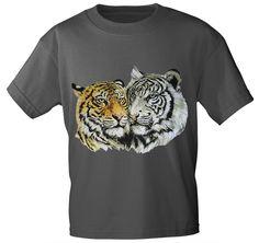 T-Shirt mit Aufdruck - Tiger Raubkatze, in 8 Farben
