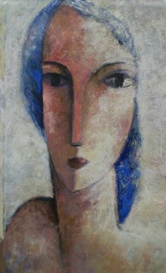 Fondo claro by Didier Lourenco (b. Abstract Portrait, Portrait Art, Illustrations, Illustration Art, Art Visage, Portraits, Figure Painting, Face Art, Les Oeuvres
