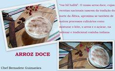 Cozinhando com Bernadete: ARROZ DOCE