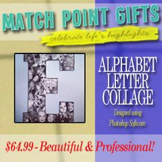 Custom Photo Collages on wooden letters! Choose from 9 inch or  13 inch letters! Display your memories or give a thoughtful gift! by MatchPointGifts on Etsy
