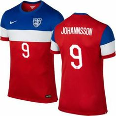 5f61cb4a4 Here s your chance to buy Men s Landon Donovan USA Soccer Jersey - 2014  World Cup Red Nike Replica Away In Cheap Price.