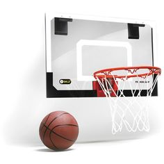 The SKLZ Pro Mini Basketball Hoop is perfect for practicing your basketball skills inside. This mini basketball hoop comes with a basketball too. Indoor Basketball Hoop, Portable Basketball Hoop, Basketball Backboard, Basketball Bedroom, Buy Basketball, Arcade Basketball, Football Bedroom, Basketball Floor, Basketball Shooting