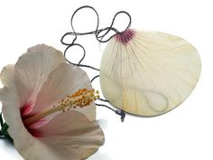 Real Hibiscus Necklace  Real Flower Necklace   white by AhoyAhimsa