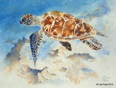 Under the Sea. watercolor  I just love these sea…