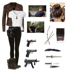 """""""Zombie apocalypse with Josh as a partner"""" by seems99 ❤ liked on Polyvore featuring Calvin Klein, Topshop, Kershaw, Head Over Heels by Dune, David Yurman, Holster, Butter London and Bow & Arrow"""