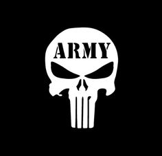 Punisher Skull Army Vinyl Decal Choose Color and Size Made with 100% Automotive Grade Vinyl