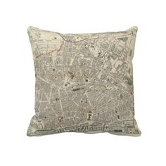 Vintage Map of Liverpool England (1836) Throw Pillow from Zazzle.com $62.40