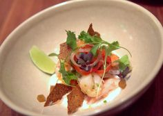 1760's amazing lobster ceviche over caramelized pineapple and coconut - like vacation