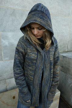 Lucia Hoodie by Carrie Bostick Hoge, knitted by ivysphotomom | malabrigo Rios in Playa
