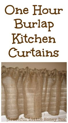 These burlap curtains are fast and easy to make!
