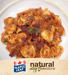 Tortellini with bacon in Ros� Sauce #NaturalSelections @Maple Leaf®