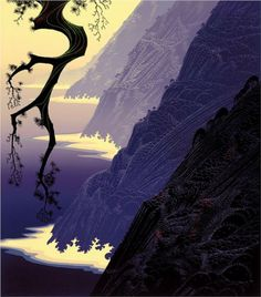Purple Mist - Eyvind Earle