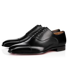 Christian Louboutin United Kingdom Official Online Boutique - Cousin Greg Calf Black Calfskin available online. Discover more Men Shoes by Christian Louboutin Cheap Mens Fashion, Mens Fashion Shoes, Men Shoes With Jeans, Louboutin Online, Christian Louboutin, Classy Men, Men's Shoes, Shoes Jordans, Shoes Style