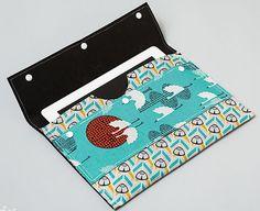 iPad case made with kraft•tex™ black Kraft Paper Fabric