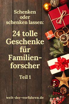 Geschenkideen Weihnachten - die schönsten Geschenke für Familienforscher | Genealogie Ahnenforschung Familienforschung Gift Wrapping, Gifts, Gift Wrapping Paper, Presents, Gifs, Gift Packaging, Present Wrapping, Wrapping Gifts, Gift