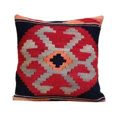 Southwestern Pillow Case 20x20 Kilim Pillow by Antalyakilims