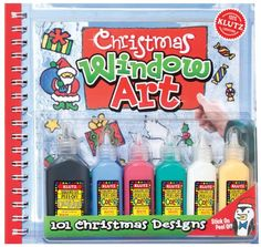 Christmas Window Art (Klutz: Window Art). This special holiday edition comes with five bottles of window colors and simple instructions for using them to make beautiful stick-on, peel-off window decorations. Christmas Window Art features a selection of 101 ready-to-trace designs, including holiday necessities like snowmen, angels, reindeer, toys, and of course, the jolly old elf himself. Packaged with the ideal Christmas colors (red, green, white, blue, yellow, and black outline). Comes…