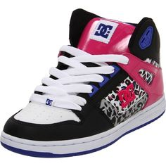 1c4be6f2eec DC Shoes DC Rebound Hi Action Sports Shoe- good use of minimal animal print  and incorporation of color usage