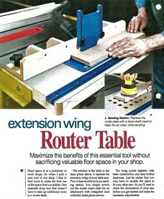Stow away router table woodsmith plans shop made tools table saw router table plans router greentooth Gallery