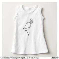 """Just a Line"" Flamingo Design Baby Sleeveles Dress"