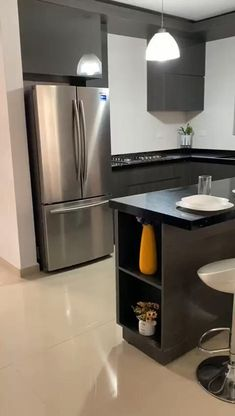 Kitchen Design Open, Kitchen Cabinet Design, Interior Design Kitchen, Home Decor Kitchen, Kitchen Living, Kitchen Furniture, Modern Kitchen Cabinets, Home Room Design, Cuisines Design
