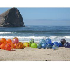 Blown Glass Oregon Coast Sea Floats by Oberini Glass, Portland, OR via Etsy.