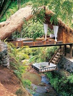 Love the swing above the stream
