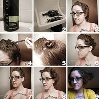 The Faux Housewife No Heat Curls For Short Hair Hair Not Scare Pinterest Short Hair And Bobs