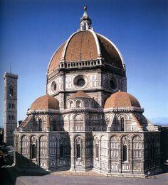 Vroeg renaissance, architectuur. S. Lorenzo, Florence. Kerken met centraalbouw> symmetrie. Paleizen en kerken om de opdrachtgever te roemen.