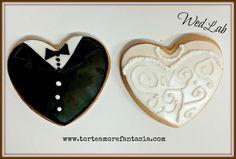 Biscotto segnaposto sposa & sposo   www.torteamorefantasia.com