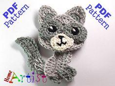 Wolf 2 Crochet Applique Pattern von HomeArtist auf Etsy