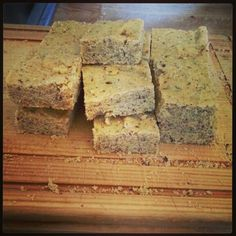 It's #cornbread. Made in gluten free flour #buckwheat and finest #cornmeal, egg replaced by toasted #flaxseed, milk replaced by #rice milk, butter replaced by #olive oil and rape seed oil, 100% #vegan and it's good for my breakfast.