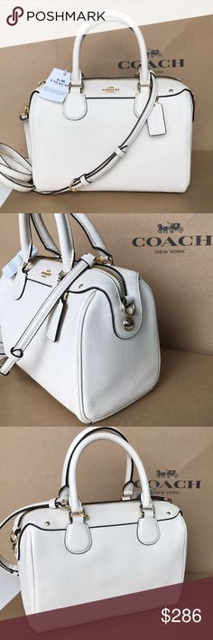 ⭐️🍒coach bennette🍒chalk color Authentic. Brand new with tag. Chalk color gold hard wear. Strap removable Coach Bags Crossbody Bags