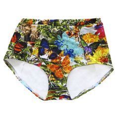 Bahia Bottoms -  For those who love vintage swimsuits and retro-inspired swimwear - In Butterfly Print