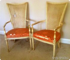 Furniture Feature Friday A Cane Tutorial Link Party Miss Mustard Seed Chair Repair
