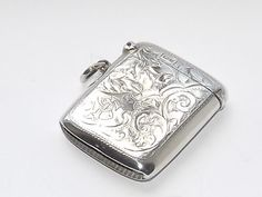LOVELY ANTIQUE EDWARDIAN HM SOLID SILVER STERLING SILVER VESTA CASE CHESTER 1905 #RolasonBrothers