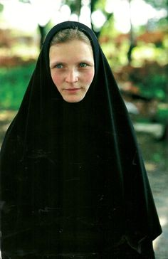 Young Russian Orthodox nun at Tolga Convent, Russia National Geographic Nuns Habits, Religion, Sisters Of Mercy, Bride Of Christ, Portraits, Orthodox Christianity, Russian Orthodox, People Of The World, National Geographic