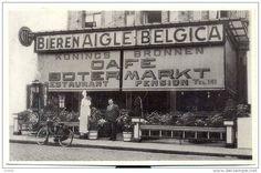 FOTOKAART  MALDEGEM  cafe restaurant Botermarkt bieren aigle belgica