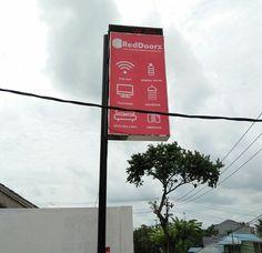 Neon Box Pakai Tiang Balikpapan Kalimantan Timur Neon Box, Makassar, Branding, Interior, Brand Management, Indoor, Interiors, Identity Branding