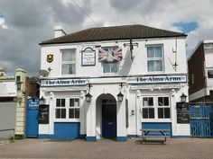 The Alma Arms, Southsea. Mid Century pub, now converted tp flats. Portsmouth Pubs, Hampshire Uk, Nottingham, 19th Century, Arms, England, Scene, Lost, Houses