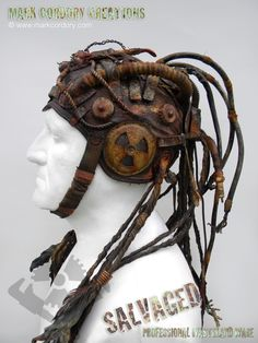 Post Apocalyptic costume - helmet for the Techno-Shaman. SALVAGED enquiries always welcome @ www.markcordory.com