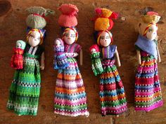 Inspired by these worry dolls (I used to have a set); they look like little gopis!.